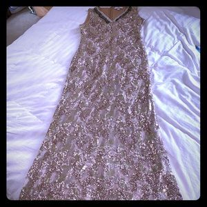 Belle Badgley Mischka Rose Gold sequin Gown